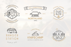 Iconic Camping Logo Badges ~ Logo Templates on Creative Market