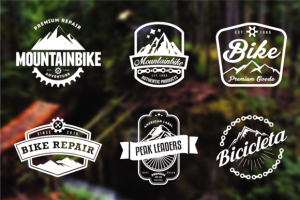 Mountain Bike Retro Badges ~ Logo Templates on Creative Market