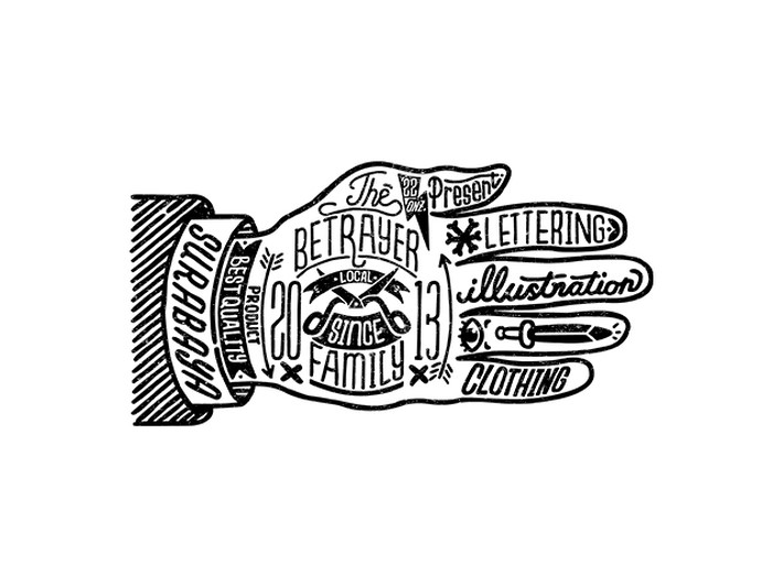 Rad Lettering Illustrations by Betrayer Family | Downgraf