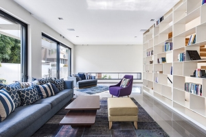 Light In With A Wall Of Shelves
