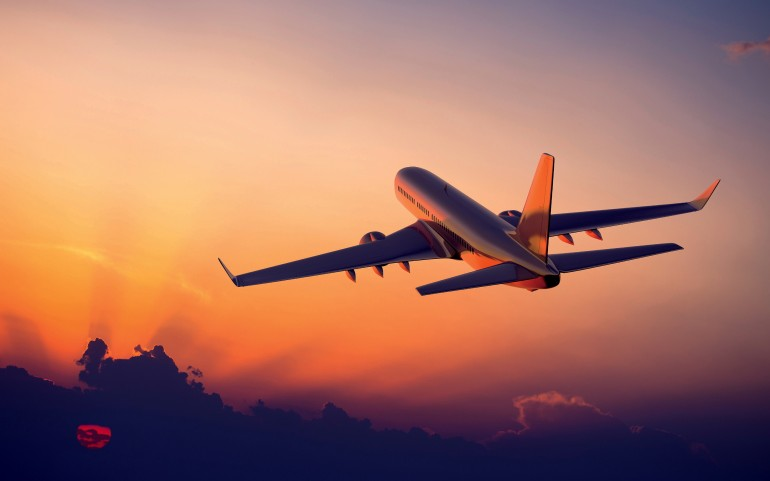 Airplane Sunset – Photography Wallpapers