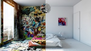 Avant-Garde Sunday Room: artistic design by Pavel Vetrov