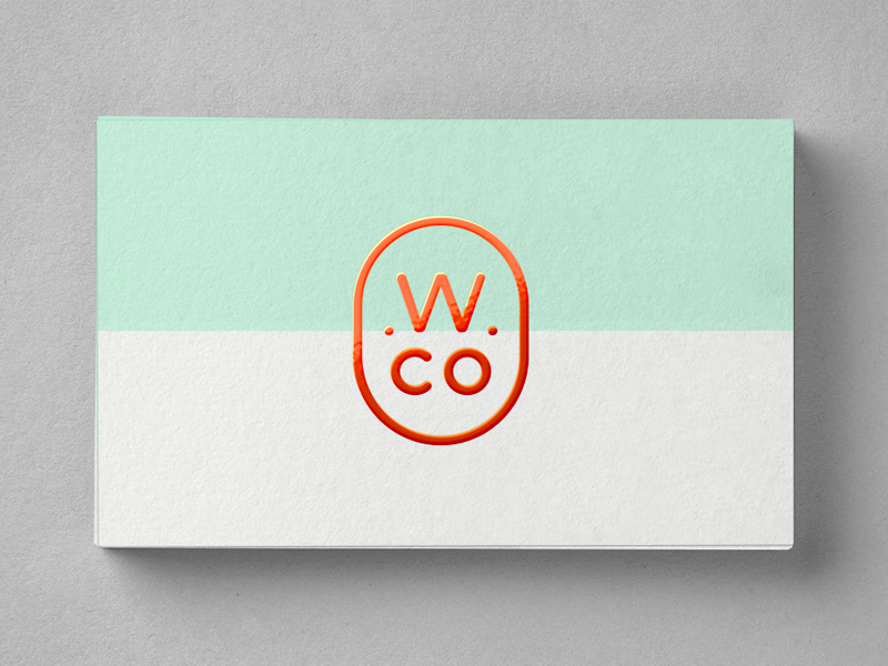 business cards for Wondrous Co. by Mitch Bartlett