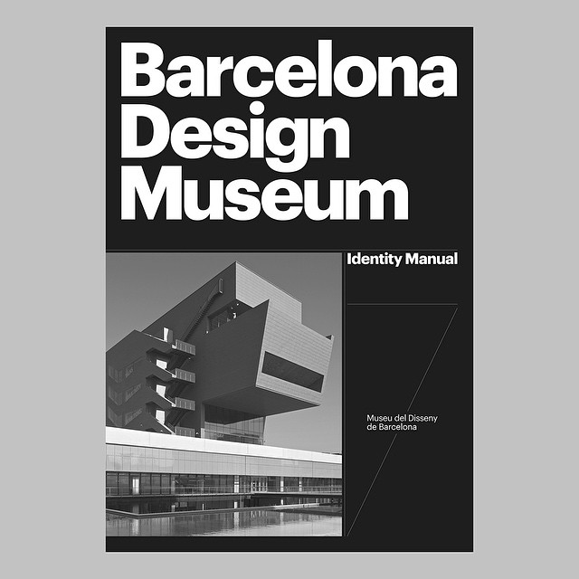 Barcelona Design Museum identity manual cover