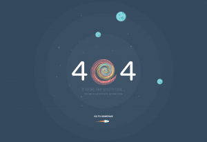 404 error page. Atech psd template