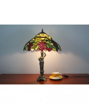 Grape With Green Leafs Tiffany Stlyle Model Decorative Table LampGrape Jewels With Green Leafs ...