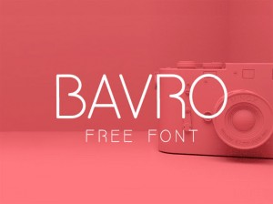 Bavro : Free Fresh and Clean Font