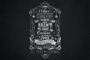 What If Inspiration Print's Typography Chalkboard