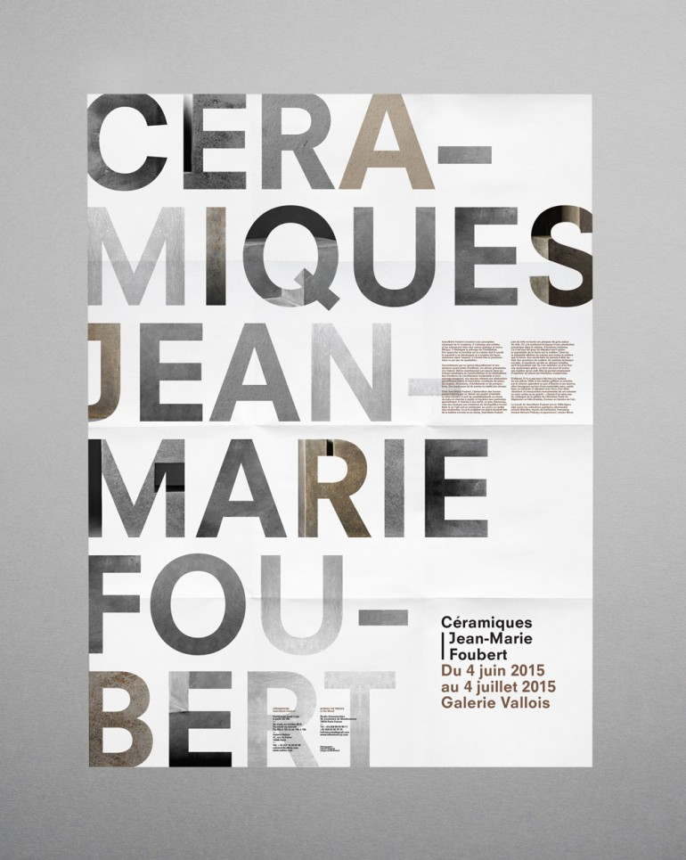 """Press kit Press kit for the """"Céramiques"""" exhibition at the Valois gallery (France)"""