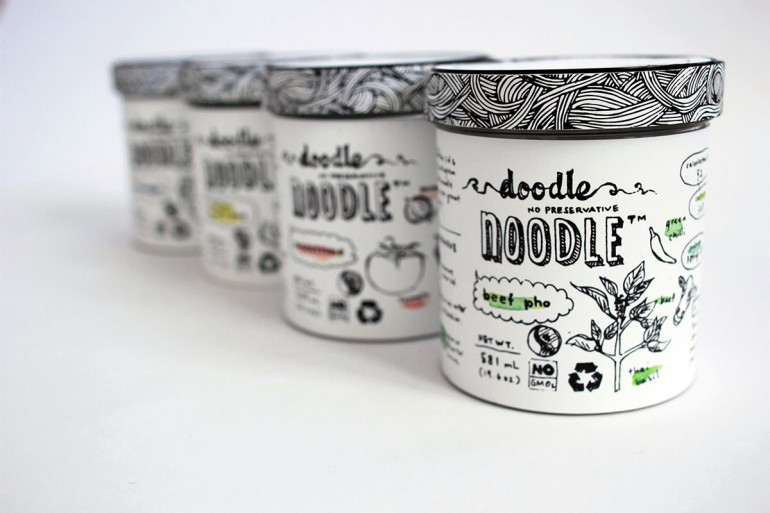 Doodle Noodle – Single serve soup packaging