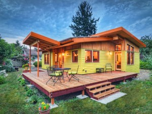 Sustainable hybrid timber-frame Mini Home with playful design