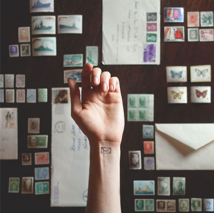 Tiny tattoos with matching background