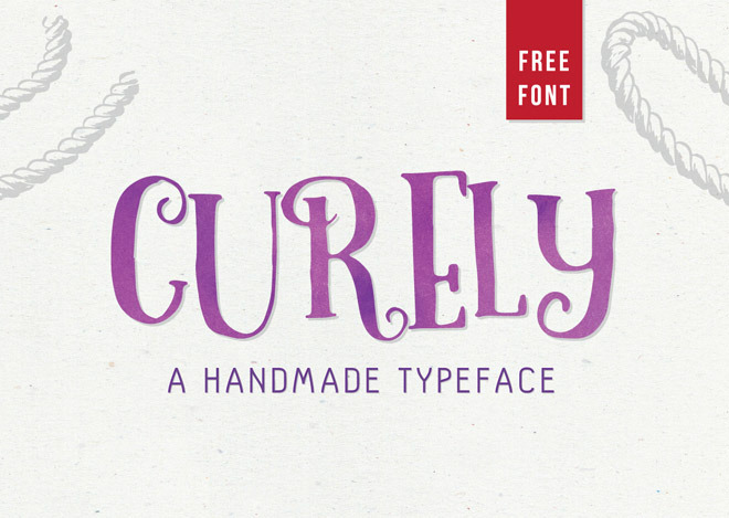 Curely – Free Handmade Font