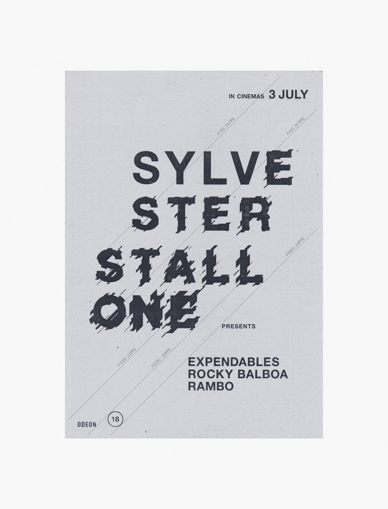 Sylvester Stallone – A typography led film poster