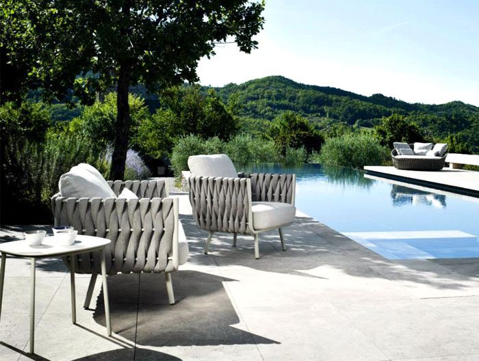 Fabric Outdoor Furniture by Monica Armani – InteriorZine