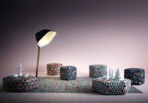 Geometric Pattern Rugs and Poufs by Golran – InteriorZine