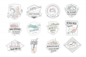 Illustrated Badge Template Pack
