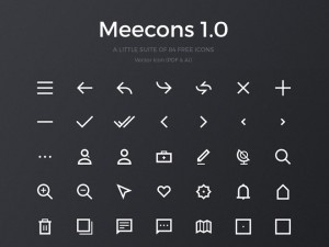 Meecons 1.0 – 84 Free Vector Icons (PDF & AI)