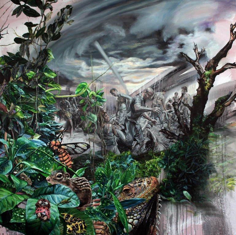 """Huri Kiriş is a contemporary artist from Istanbul, Turkey. This is """"Hell, A day in Paradis ..."""