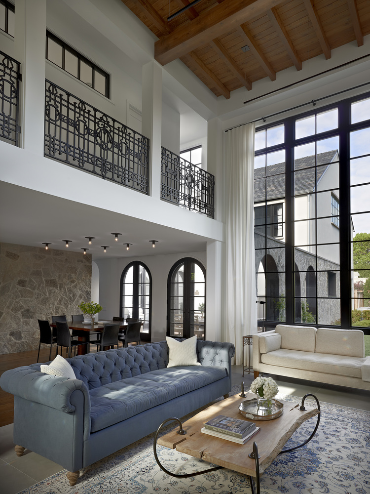 Stately House with Traditional Architectural Forms and Modern Interiors