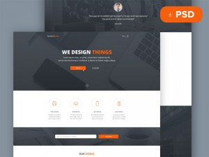 Tanatos : Free PSD Template for Startups