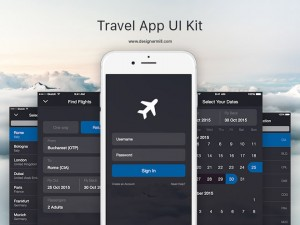 Travel App UI Kit Sketch