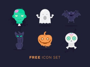 Unique Halloween Icon Set