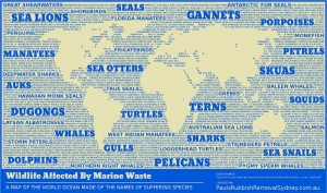 Here's the world's first bi-colour map of the oceans of the world. It lists some of ...