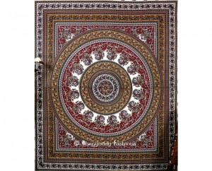 Maroon Color boho, Ethnic Tapestry