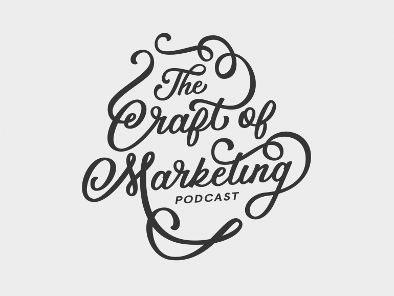 """Hand drawn typography by Jenna Bresnahan """"Craft of Marketing"""""""