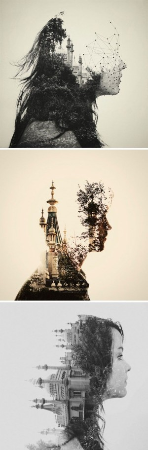 dan mountford, double exposure portraits | Double Exposure, Portraits and Imagination