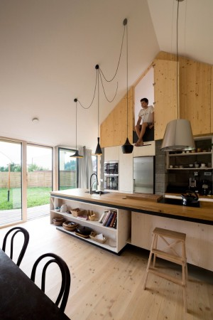 DomT House in Stara Lubovna: Inspired by the Architecture of Wooden Barns