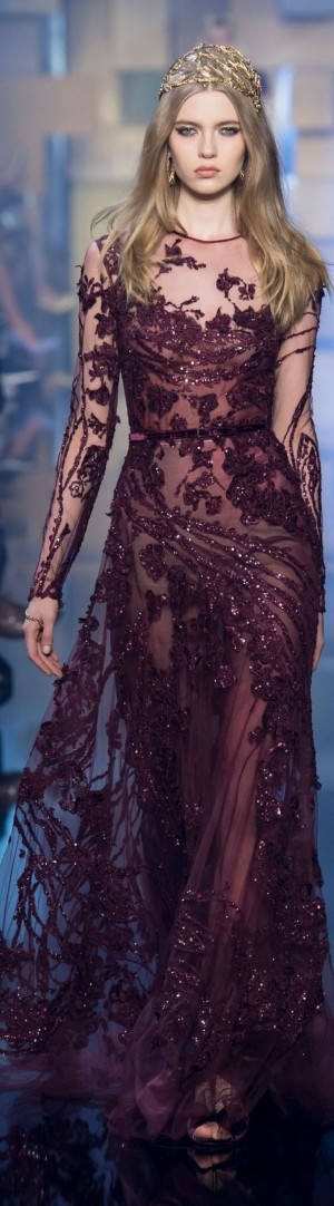 Elie Saab Showed Pretty Gowns for Moody Princesses at Couture | Elie Saab, Couture and Long Slee ...