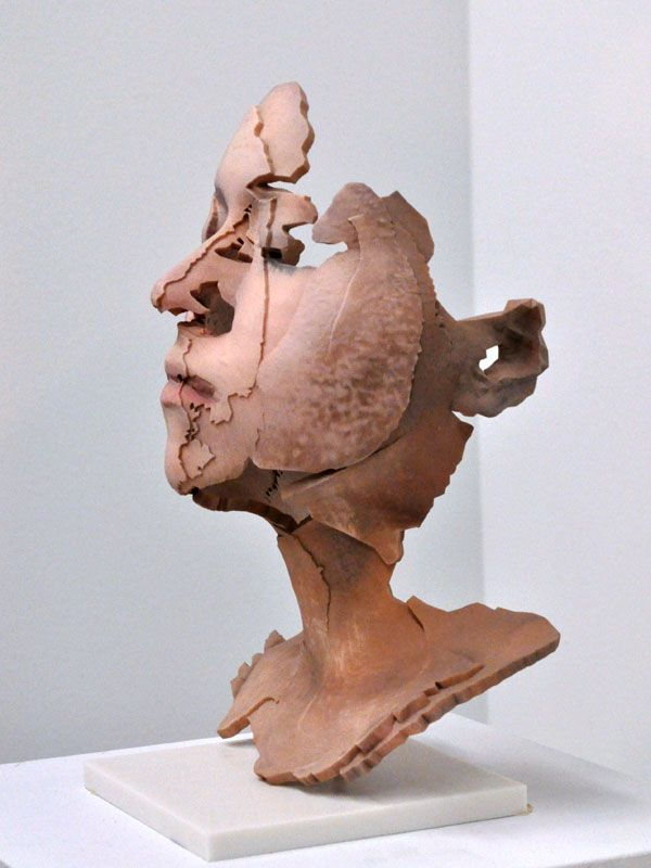 Laura: RGB, 3d printed epoxy resin, plaster and cyanoacrylate, life-size, Sophie Kahn   3d print ...