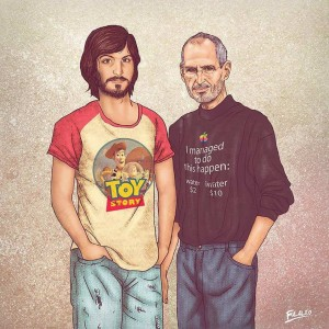 Old Celebrities Meet Their Younger Selves by Fulvio Obregon | 2 Illustration Mag