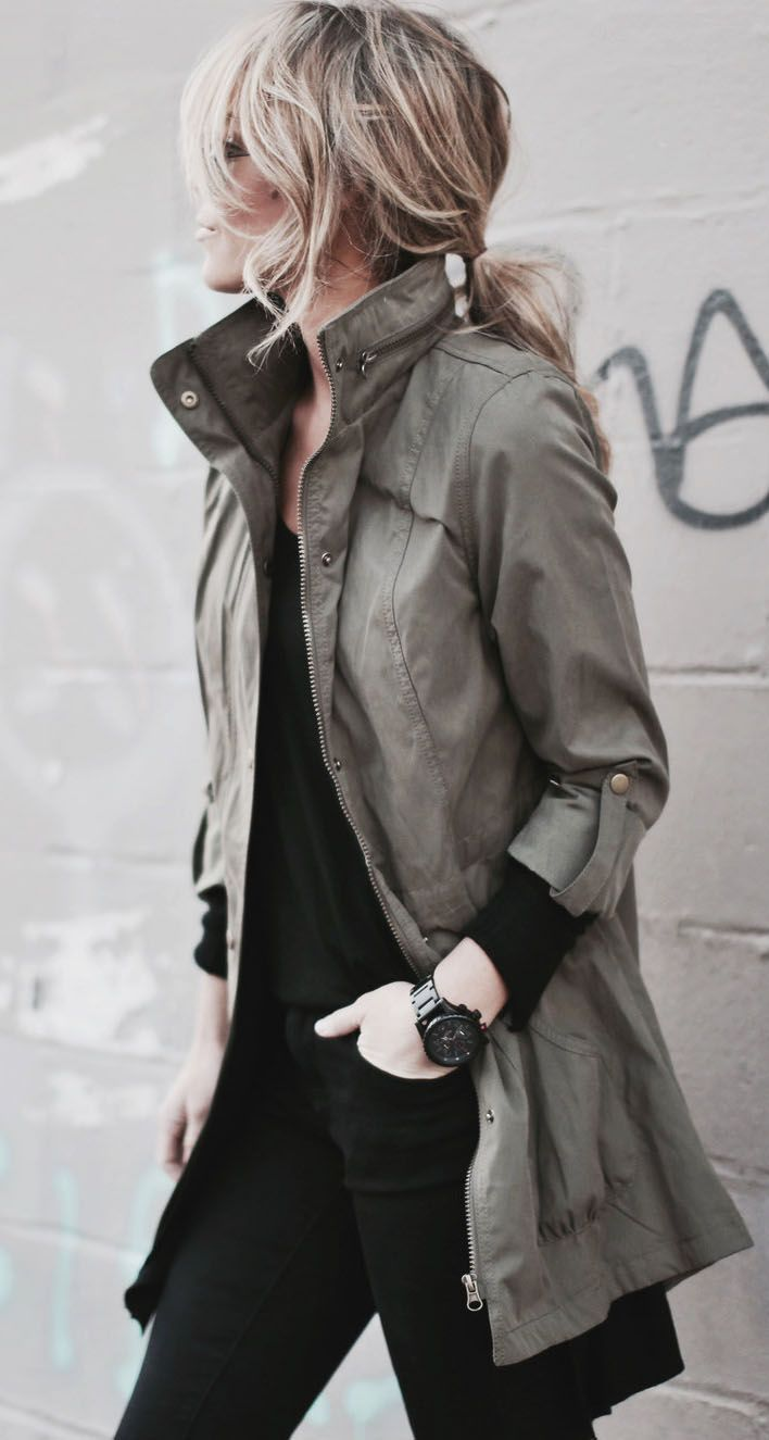 Pin by Alyssa Wilcox on fall / winter style | Pinterest | Jackets, Khaki Jacket and Green Jacket