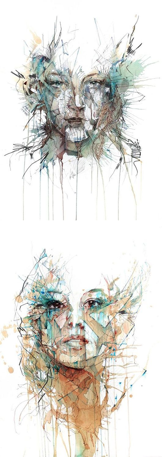 Tea, Vodka, Whiskey and Ink Portraits by Carne Griffiths Don't even know what to say beyon ...