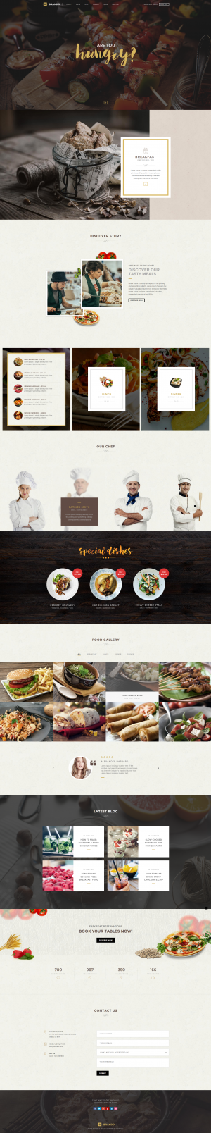 Brando Restaurant OnePage WordPress Theme