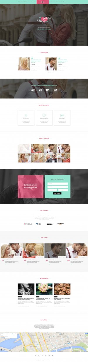 Brando Wedding OnePage WordPress Theme