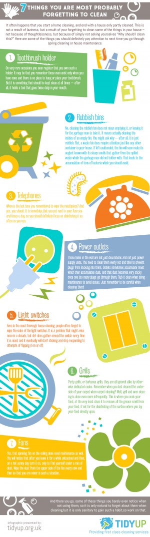Interesting infographic about our daily cleaning routines and the unintentionally missing some c ...