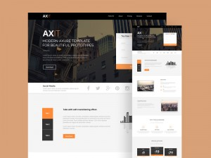 Axis is a beautiful landing page template with a clean, modern design and well organized layers/ ...