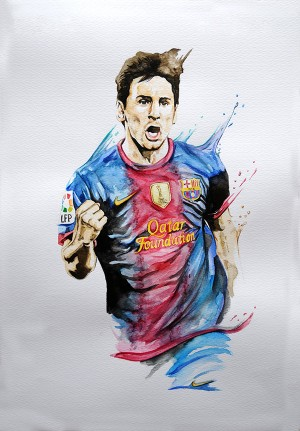 Messi Watercolor