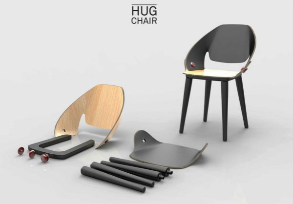 Hug chair by Simone Affabris