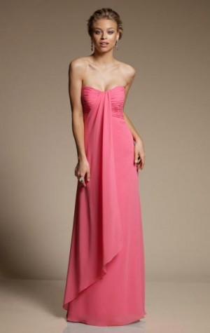 2015 Long Discount Pink Bridesmaid Dress