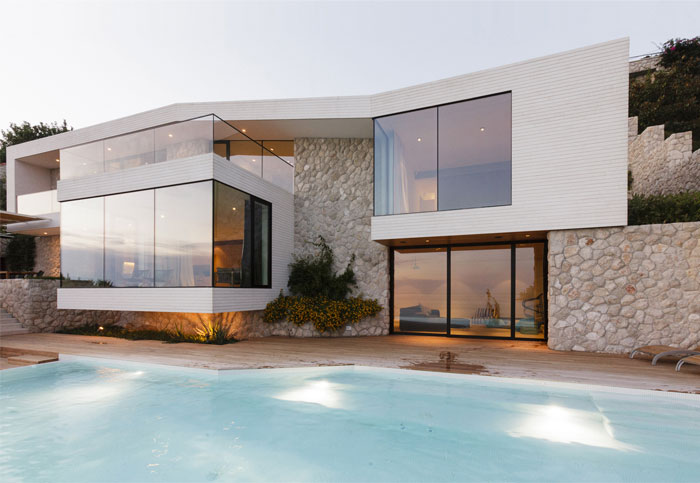 Mediterranean House with Large Glass Windows – #architecture, #house, #home, #interior, #h ...