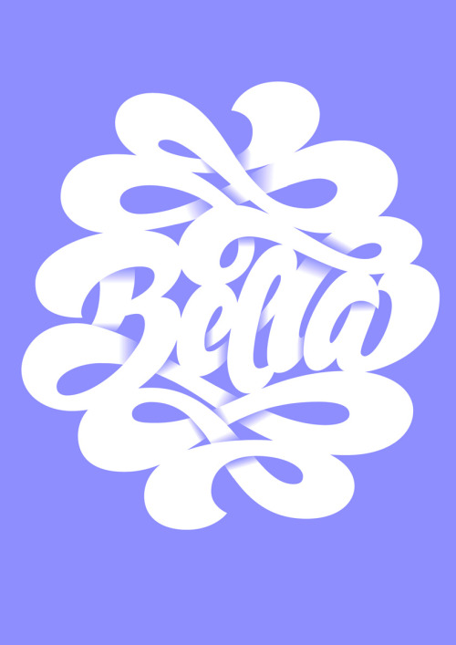 'Bella' lettering by Martina Flor