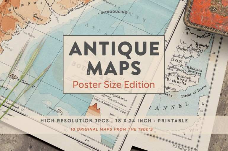 Antique Maps – Poster Size Edition