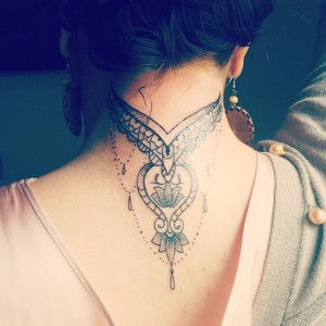 Types of back of the neck tattoos