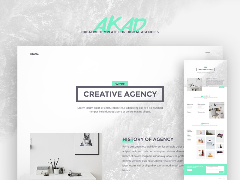 AKAD is a modern and well crafted template that has a beautiful and unique concept. The design w ...