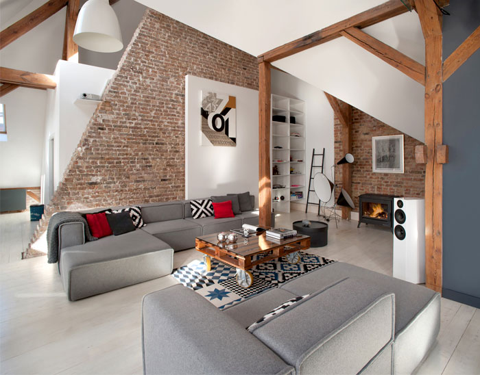 Loft Apartment in Poznan by Cuns Studio – #architecture, #home, #decor, #interior, #homed ...
